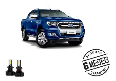 Kit Lampada Super Led Tech One Farol Baixo Ford Ranger 13-19
