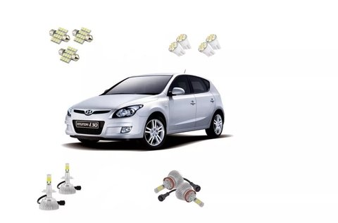 Kit Lampadas Led + Farois E Milha Super Led Hyundai I30