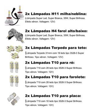 Kit Lampadas Led Nissan Frontier