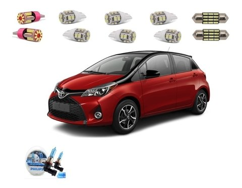 Kit Lampadas Led +philips Crystal Vision F.alto Toyota Yaris