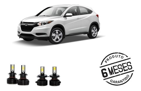 Kit Lampadas Super Led Tech One Farois + Milha Honda Hrv