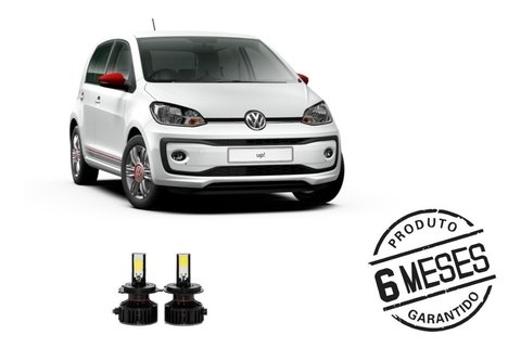 Kit Lampadas Super Led Tech One Farol H4 Vw Up