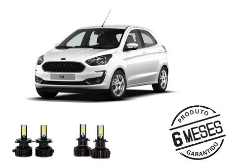 Kit Lampadas Super Led Tech One Milha + Farol Ford Ka