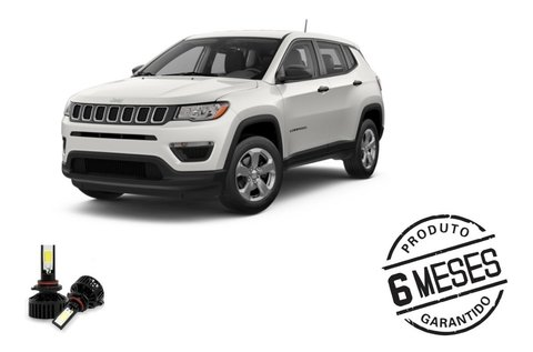 Kit Lampadas Super Led Tech One Para Farol Jeep Compass