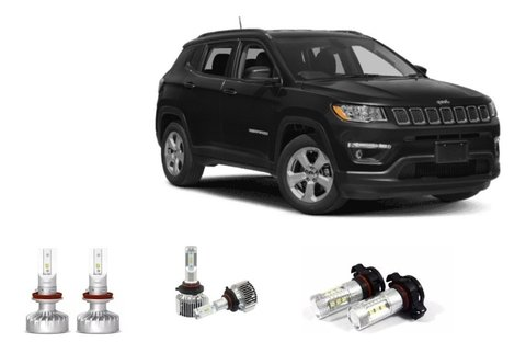 Kit Led Farol + Milha Philips + Drl Jeep Compass 2019