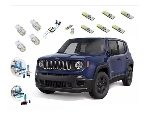 Kit Led + Philips Crystal Vision Farol E Milha Jeep Renegade