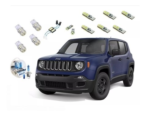 Kit Led + Philips Crystal Vision Farol Jeep Renegade