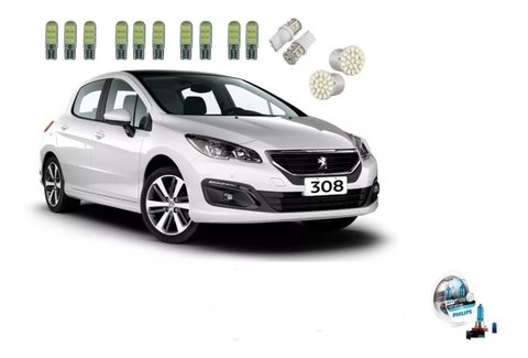 Kit Led + Philips Crystal Vision Milha Peugeot 308