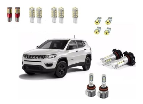 Kit Led + Super Led Drl E Milha Jeep Compass