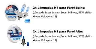 Kit Lâmpadas Philips Crystal Vision Citroen C4 Lounge