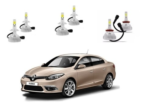 Kit Super Led Farois E Milha Renault Fluence