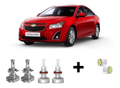 Kit Super Led Philips Ultinon + Brinde Cruze 11-15
