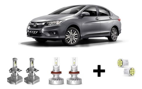 Kit Super Led Philips Ultinon + Brinde Honda City 09-14