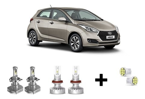 Kit Super Led Philips Ultinon + Brinde Hyundai Hb20