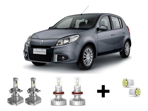 Kit Super Led Philips Ultinon + Brinde Renault Sandero 07-10