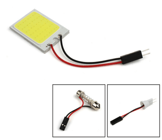 Placa Super Led Cob 10w 12v 48 Chips Teto Mala