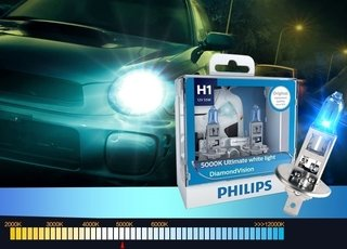 LÂMPADA DIAMOND VISION PHILIPS SUPER BRANCA H1