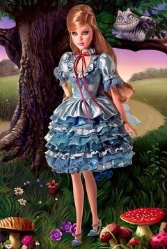 Alice in Wonderland Barbie doll