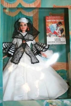 Barbie Doll Scarlett O'Hara (Black & white Dress) - comprar online