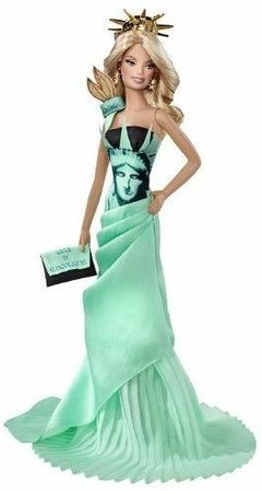 Barbie Statue of Liberty Dolls of The World