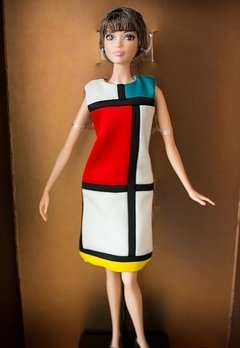 Barbie Yves Saint Laurent Mondrian na internet
