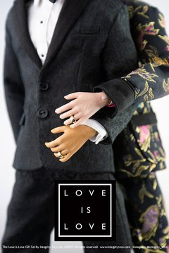 Love is Love Cabot Clark and Milo Montez Wedding Gift Set - Michigan Dolls