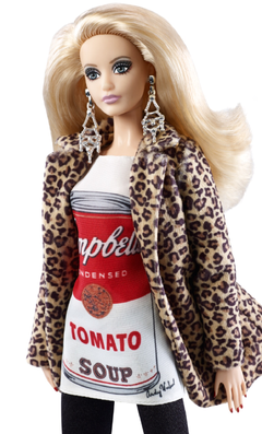 Barbie Andy Warhol na internet