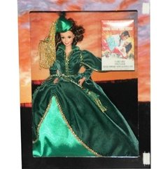 Barbie Doll Scarlett O'Hara (Green Drapery Dress) - Michigan Dolls