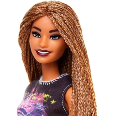 Barbie Fashionista 123 - Negra com trancas - Michigan Dolls