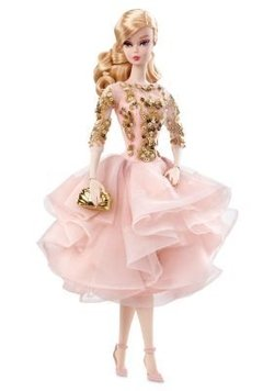 BLUSH & GOLD COCKTAIL DRESS - BARBIE DOLL