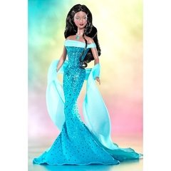 December Turquoise Barbie doll
