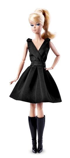 BARBIE SILKSTONE CLASSIC BLACK DRESS