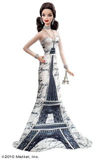 Barbie Eiffel Tower Dolls of The World - comprar online