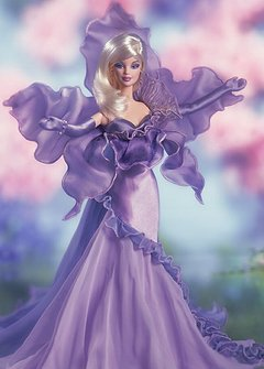 The Orchid Barbie doll