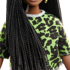 Barbie Fashionista 144 - Negra cabelo Trancado - Michigan Dolls