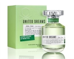 UNITED DREAMS Benetton edt x 80 LIVE FREE