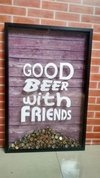 Quadro Caixa - Good Beer With Friends Tam G (60x90)cm