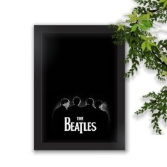 Quadro Decorativo The Beatles Black A3