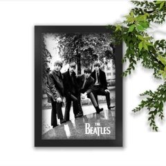 Quadro Decorativo The Beatles Pose Foto A4