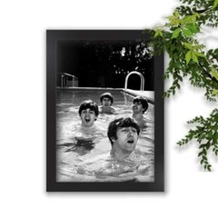 Quadro Decorativo The Beatles Piscina A3