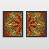 Kit 2 Quadros Decorativos Sound And Color Libertarte Artista Bebartes - comprar online