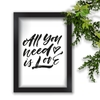 Quadro Decorativo Beatles All You Need Is Love