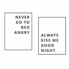 Never go to bed angry - comprar online