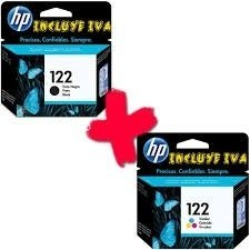 Combo Cartuchos Hp 122 Negro + Color 3050 2050 Envio S/c