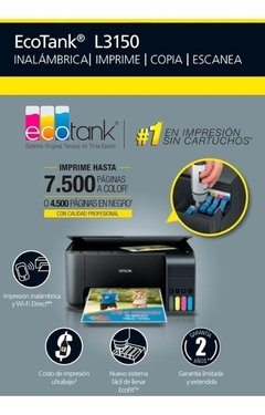 Impresora Epson L3150 Reemplazo L4150 Wifi Escaner Envio S/c - GRUPO OFFICE POINT