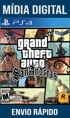 GTA San Andreas Ps4 Psn Original 1 Mídia Digital