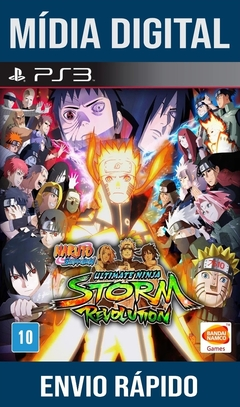 NARUTO SHIPPUDEN ULTIMATE NINJA STORM REVOLUTION PS3 PSN MÍDIA DIGITAL (LEG BR)