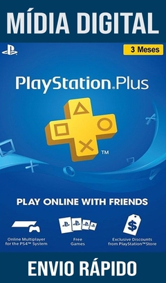 PSN PLUS 3 MESES PLAYSTATION NETWORK BRASIL