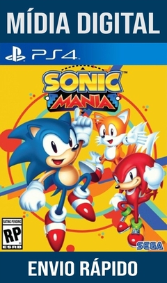 Sonic Mania Ps4 Psn Original 1 Mídia Digital