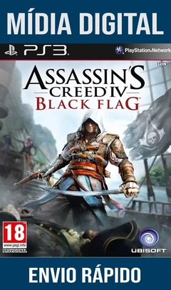 Assassins Creed Black Flag Ps3 Psn Mídia Digital (Dub Br)